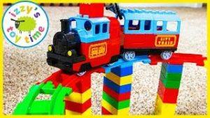 LEGO DUPLO MEGA BRIDGE! Fun Toy Trains !