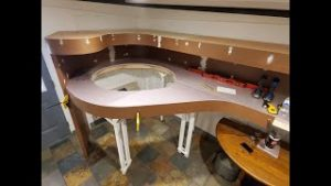 "HO Scale Model Railroad Benchwork Construction Part 4  ""The Big Loop"""