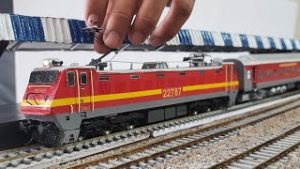Departure from railway stations with sound effect || HO SCALE MODEL TRAIN | INDIAN RAILWAY