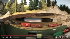 Removable scenery for model railroads