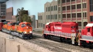 NON STOP HO Scale Model Trains: BNSF, SP, Amtrak & more   Ep.23