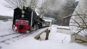 3D Virtual Reality Video Of Live Steam Model Trains In The Snow Feb 9th 2021 View On A Head Set
