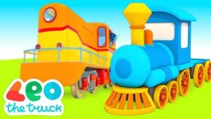 Leo the truck cartoon for kids & Toy trains for kids – Choo choo train videos for kids