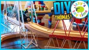 DIY TRAIN BRIDGES! Learning and DIY Crafts with Thomas Toy Trains and LEGO!