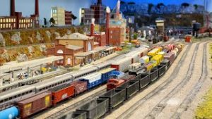 Beautiful Model Railroad N Scale Gauge Train Layout at The Grand Strand Model Railroaders Club