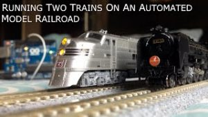 Automated model railway layout running two trains(Version 2) | Arduino based