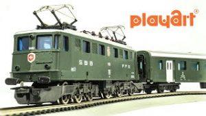 Vintage Playart HO-Scale 3377 Model Train Set Unboxing & Review