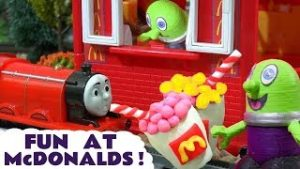 Fun with Thomas and Friends Toy Trains at McDonalds with the Funlings