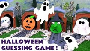 Halloween Thomas and Friends Toy Trains Spooky Play Doh Game
