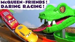 Disney Cars Toys McQueen Cars 3 daring racing with Hot Wheels City Toy Cars
