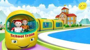 School Train Toy Factory School – Choo Choo Toy Trains -Trains for Kids Cartoon Поезд для детей