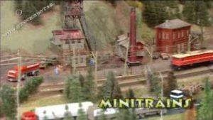 amazing model trains in mountain scenery