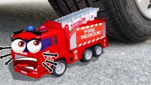 ?Car vs Fire Truck Toy, Baby Shrek !! Crushing Crunchy & Soft Things by Car | Woa Doodland
