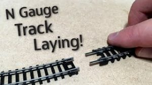 Laying the track on my N Gauge Model Railway!