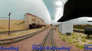 Virtual Reality Cab Ride on Big HO Scale Santa Fe Model Railroad that is Currently for Sale!