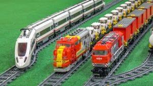 MEGA LEGO® train Action and Crash compilation!