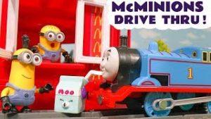Minions McDonalds Drive Thru Trouble for Thomas The Tank Engine