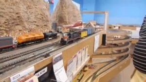 Gilbert Model Railroad Club Ho Scale- Layout Tour (Santa fe & Southern Pacifc)
