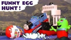 Thomas Big World funny Egg Hunt with Toy Trains and the Funlings