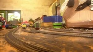 model railway trains layout paly trains