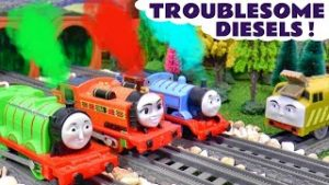 Toy Trains Story with Thomas and Friends Toys – Troublesome Diesels