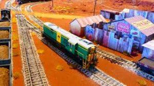 Australian Pilbra HO scale model train layout build