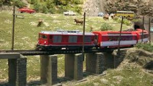 Model trains in action : One of the finest layouts of Switzerland in HO scale
