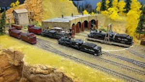 HO Scale Train Layout at the Scale Rails of Southwest Florida model railroad club