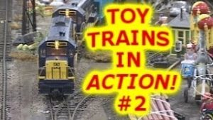 Big Model Train Video for Kids #2 | Toy Trains in Action