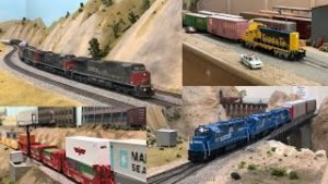 NON STOP HO Scale Model Trains | 90's Freight Trains | SP, ATSF & CONRAIL | Ep. 15 [4K]