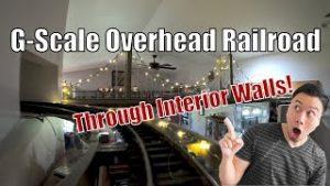 G Scale Overhead Railroad – Indoor (Through Walls!)