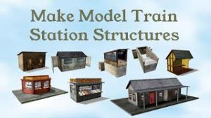 Model Train Station Buildings | Download Print Build For Your Railroad | HO Scale, N Scale, OO Gauge