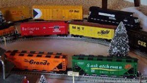 My O Scale Trains Around the Christmas Tree, 2018
