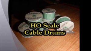 HO Scale Model Train Set Railroad Cable drums.