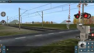Trainz Android: Cityrail K Set going over Railroad crossing