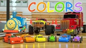 Learn Colors and Race Cars with Max, Bill and Pete the Truck – TOYS (Colors and Toys for Toddlers)